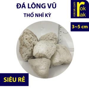 Nham thạch trắng thổ size 3-5 cm 18kg lọc hồ koi