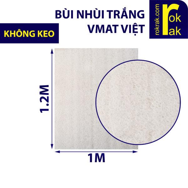 Bùi nhùi trắng tương tự Jmat không keo - Vmat Việt khổ 1x1.2