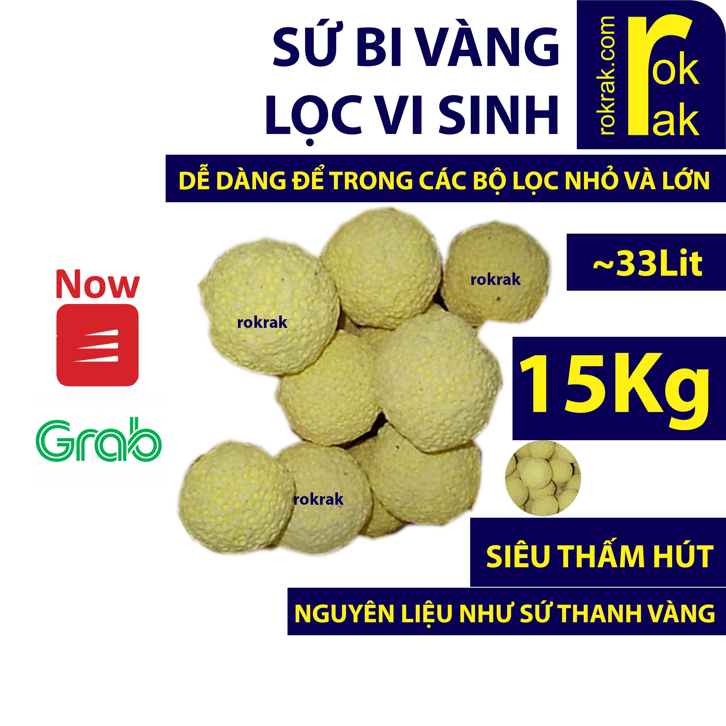 sứ bi vàng bao 15kg